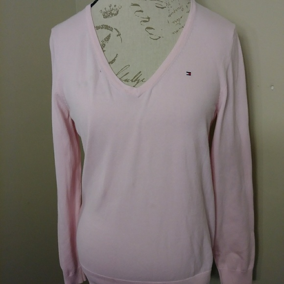 ca887bf0 Tommy Hilfiger Sweaters | Large Light Pink Sweater | Poshmark
